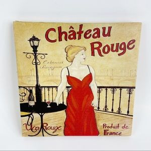 Château Rouge French Red Wine Wall Art